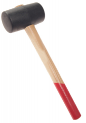 Rubber mallet, two flat surfaces