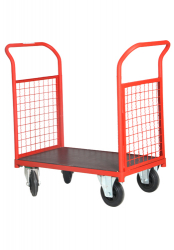 Double Open Side Wire Cage Cart