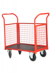 Open Side Wire Cage Cart