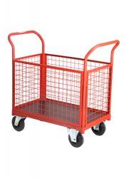 Closed Wire Cage Cart