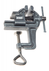 Aluminum light table vise clamp