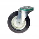 چرخ پایه دار پیچی گردان با رینگ فولادی